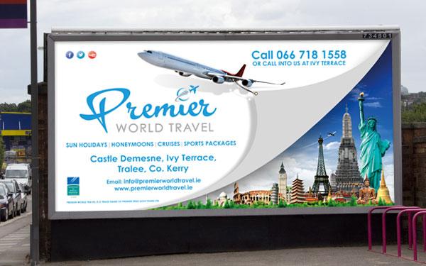 Premier World Travel Billobard