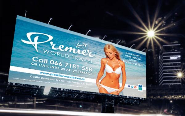 Premier World Travel Billboard